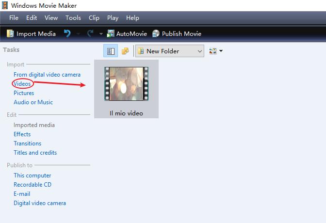 tagliare video movie maker