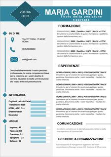 Modello di Curriculum Vitae: Scarica gratis, crea, modifica, compila e stampa