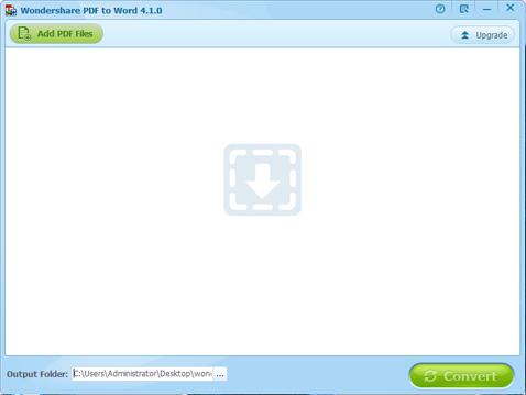 Run Wondershare PDF to Word Converter