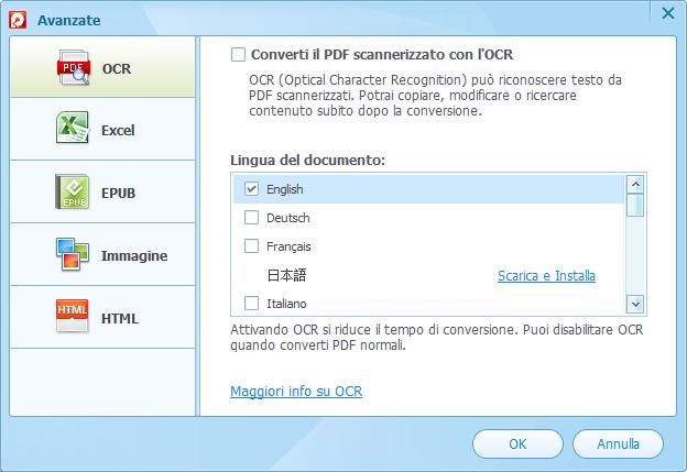 converti pdf con l'ocr