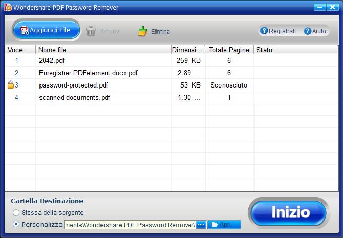 modifica un pdf protetto