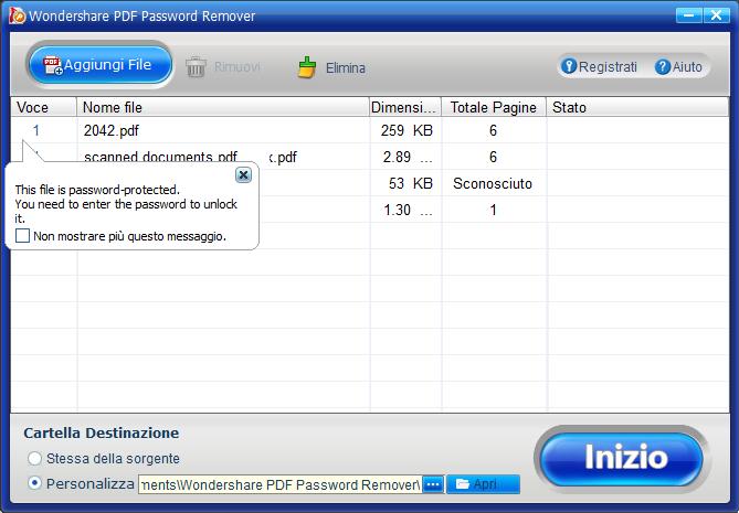 rimozione criptografia pdf