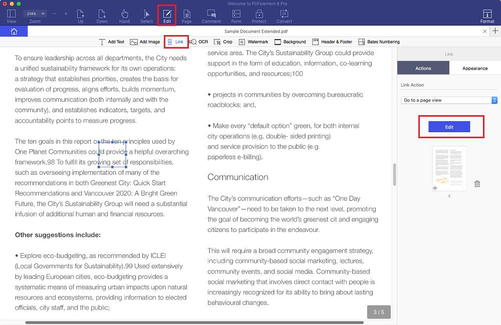 come aggiungere collegamenti nei pdf su mac