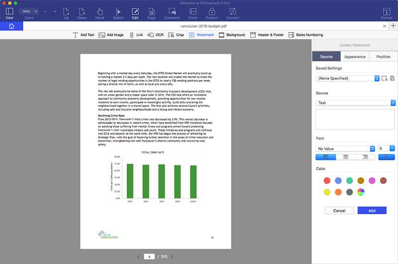batch add watermark to pdf files on mac