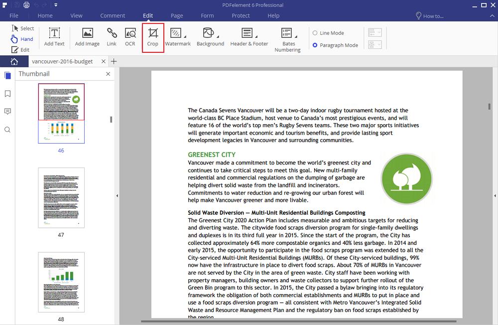 come ritagliare un pdf