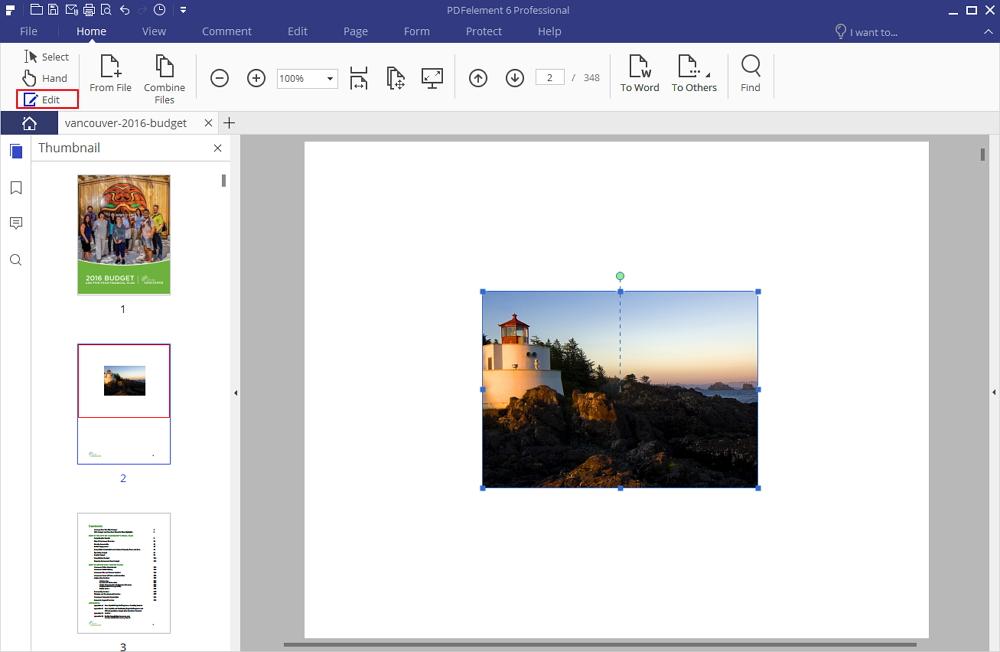 Ridimensiona le immagini nei pdf