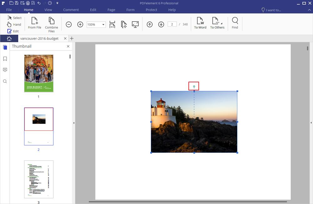ruotare immagini dei pdf