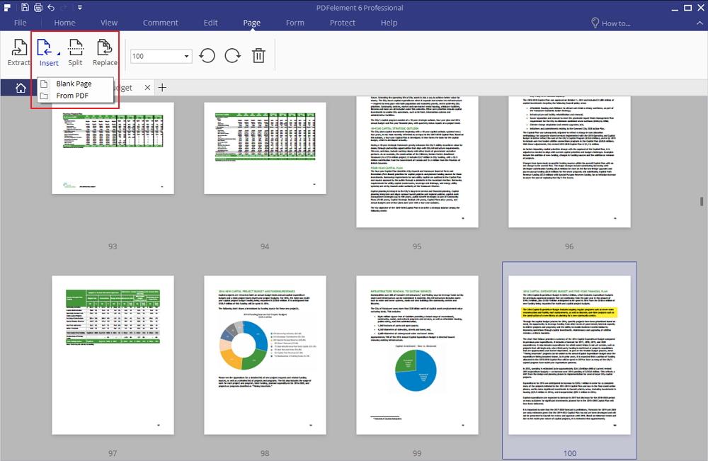 editor di pagine dei pdf