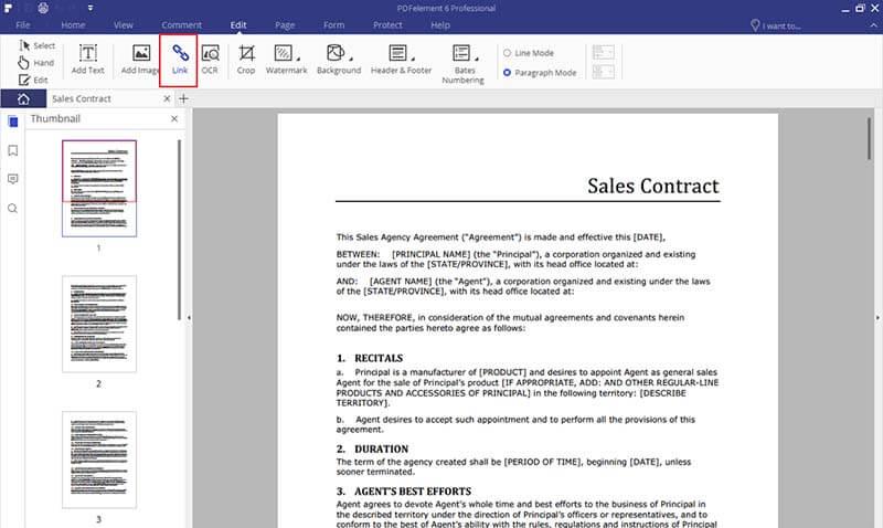 aggiungi collegamenti ai pdf