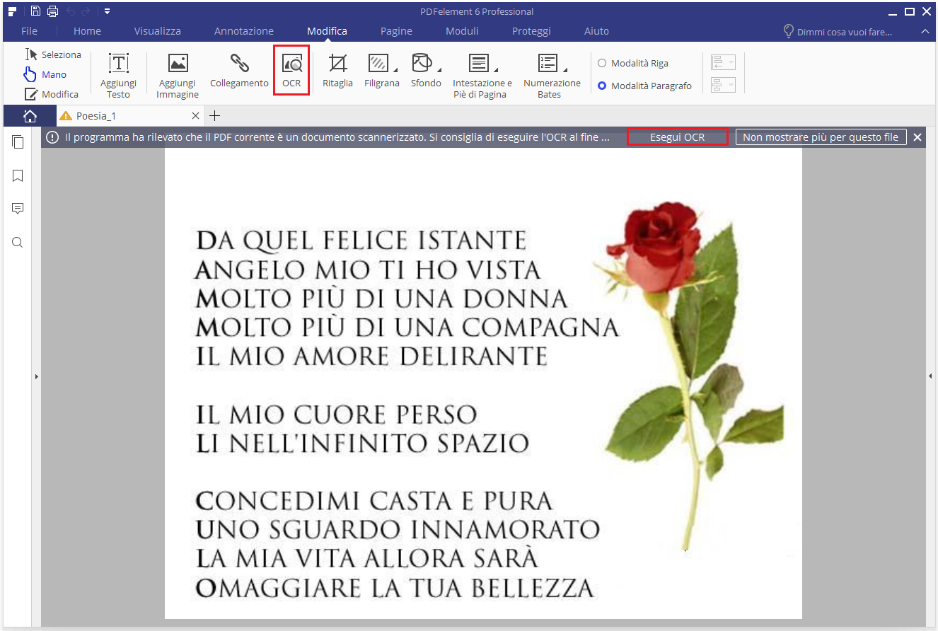Converti PDF Scansionati in Excel