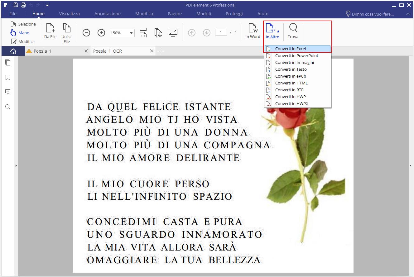 miglior convertitore di pdf in excel
