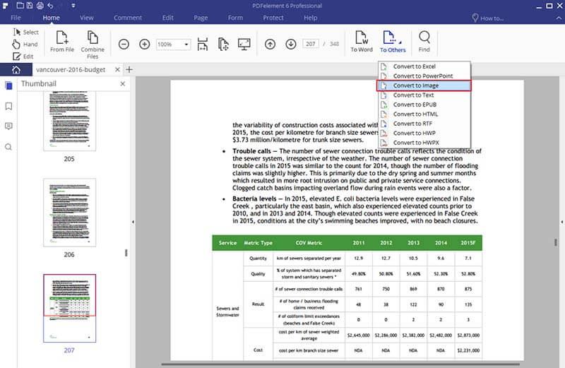 Convertitore Nitro da PDF a JPG