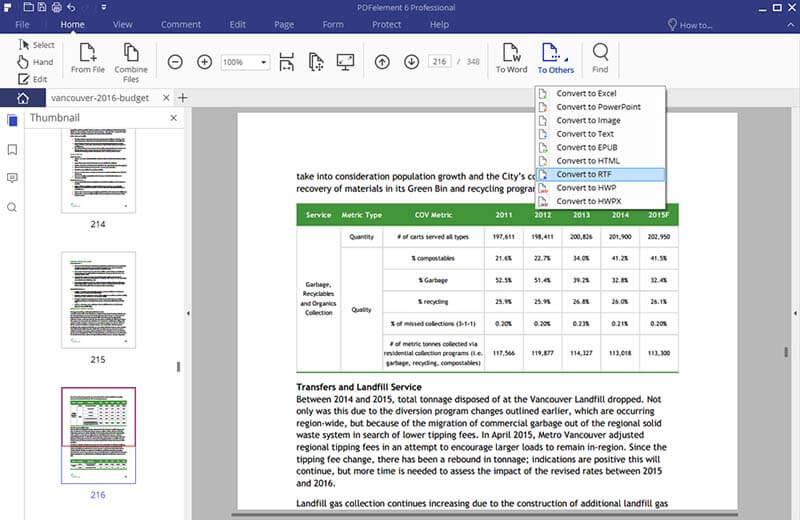 Nitro da PDF a RTF