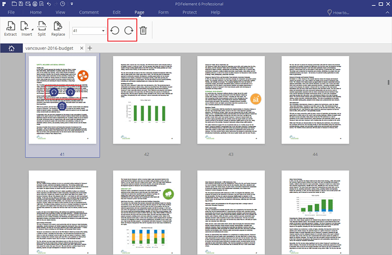 Modifica l'Orientamento dei PDF