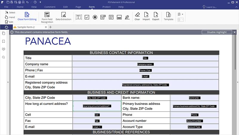 Crea Moduli PDF Compilabili