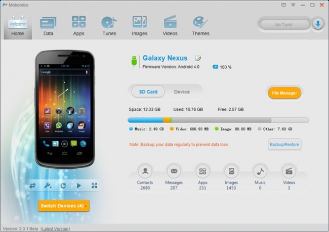 pc suite for android- moborobo