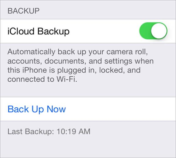 how to backup iPhone contacts