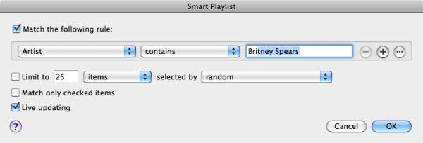 create smart playlist