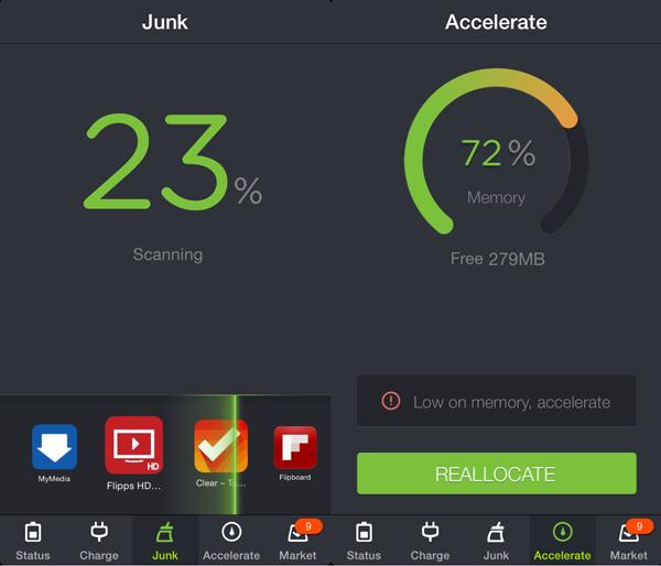 iOS memory management app