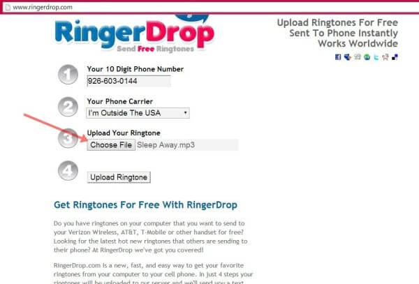 send ringtones to phones7