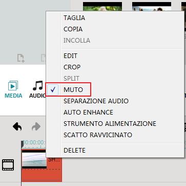 Mute video clip