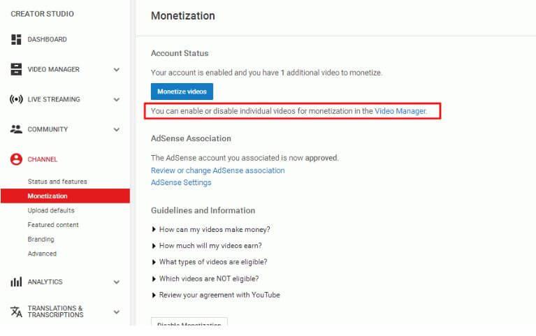monetizzazione adsense