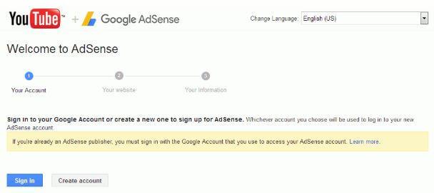 adsense registrati