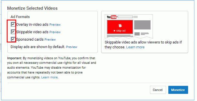 tipo di video adsense