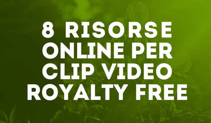 8 Risorse online per clip video Royalty Free