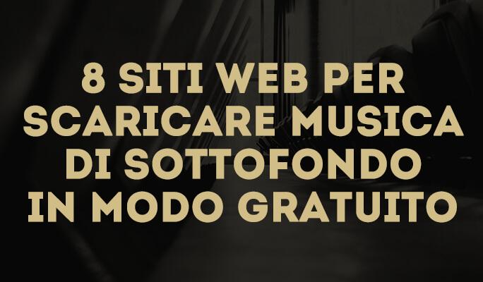 8 siti web per scaricare musica di sottofondo in modo gratuito