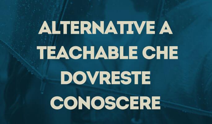 Alternative a Teachable che dovreste conoscere