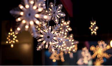 Come fotografare le luci di Natale