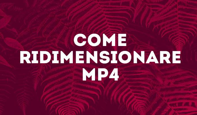 Come Ridimensionare MP4