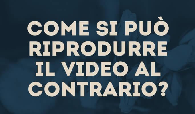 Come si può riprodurre il video al contrario?