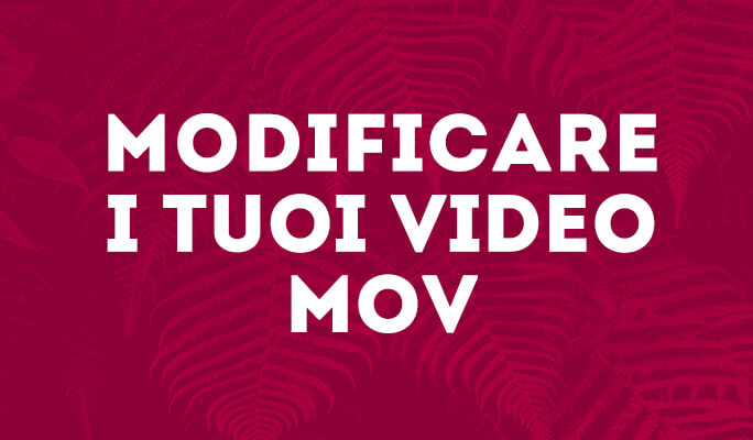 MOV Editor per Windows 8: Modificare Filmati MOV