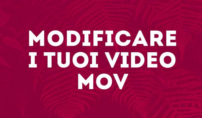 MOV Editor per Windows 8: Modificare Filmati MOV
