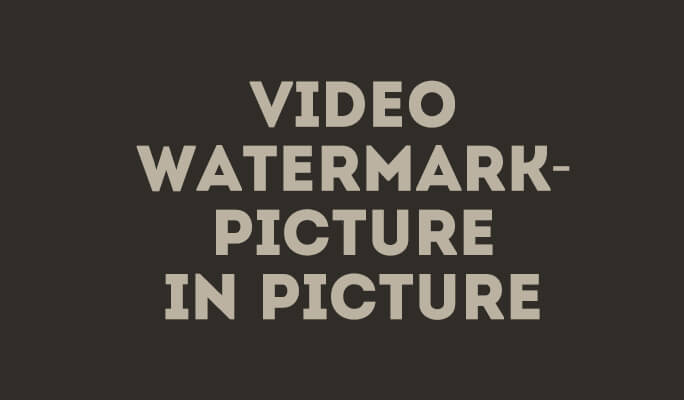 Video Watermark - Come Aggiungere Watermark Video