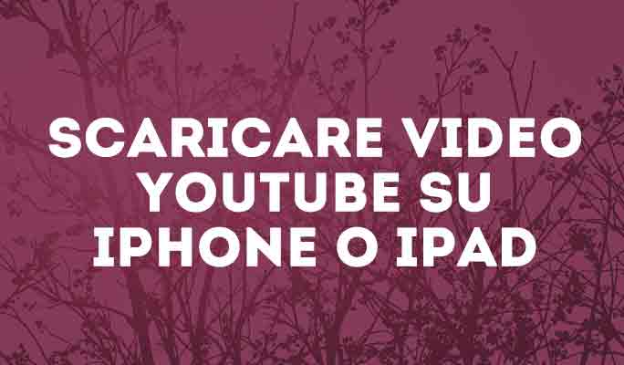 Scaricare video YouTube su iPhone o iPad