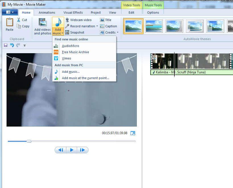 Add music file