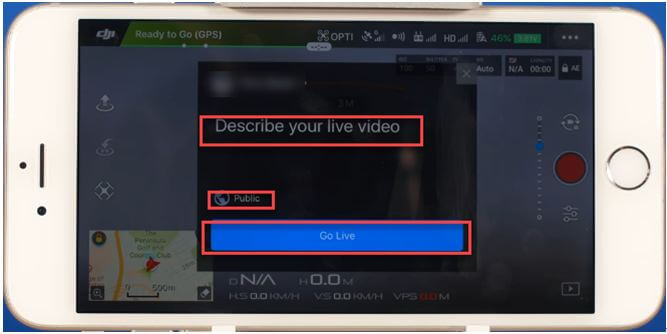 click go live