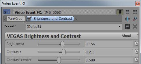 Brightness and contrast plugin