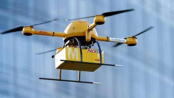 i drones nella consegna