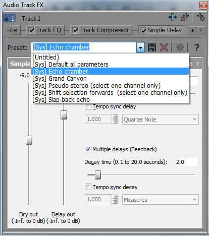 modelli predefiniti audio