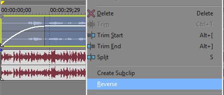 Reverse audio