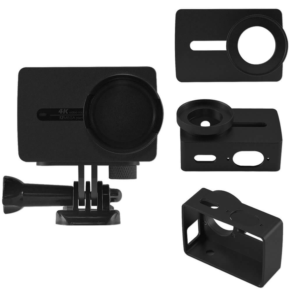 First2savvv XM2-TL-01 black Aluminium Alloy Frame for Yi 4K