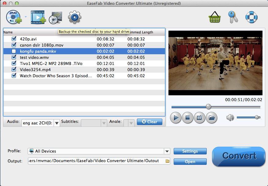 EaseFab Video Converter for Mac