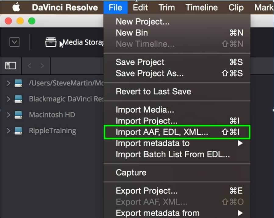 importare XML per risolvere