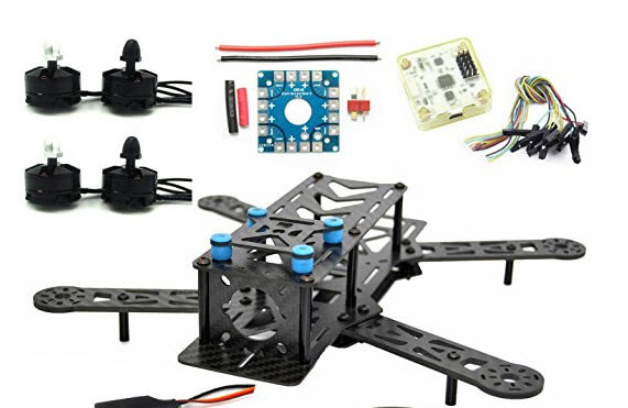 Kit per telaio quadcopter in fibra di carbonio puro 250mm per proiettori in carbonio