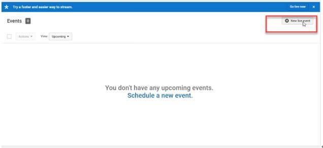 nuovi eventi live