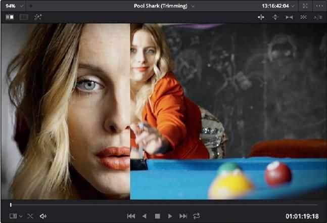 schermo diviso con galleria